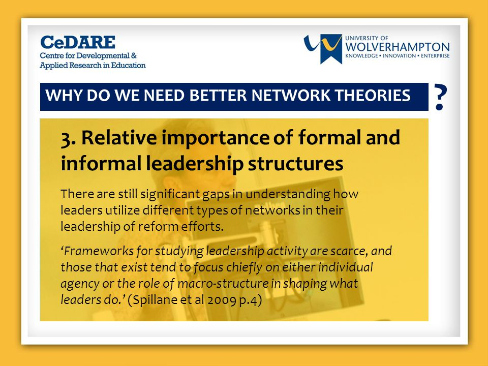WHY DO WE NEED BETTER NETWORK THEORIES .4.
