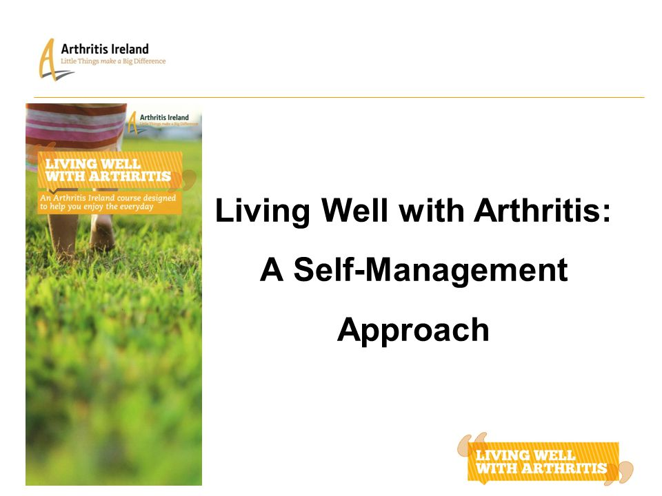 Living Well with Arthritis: A Self-Management Approach