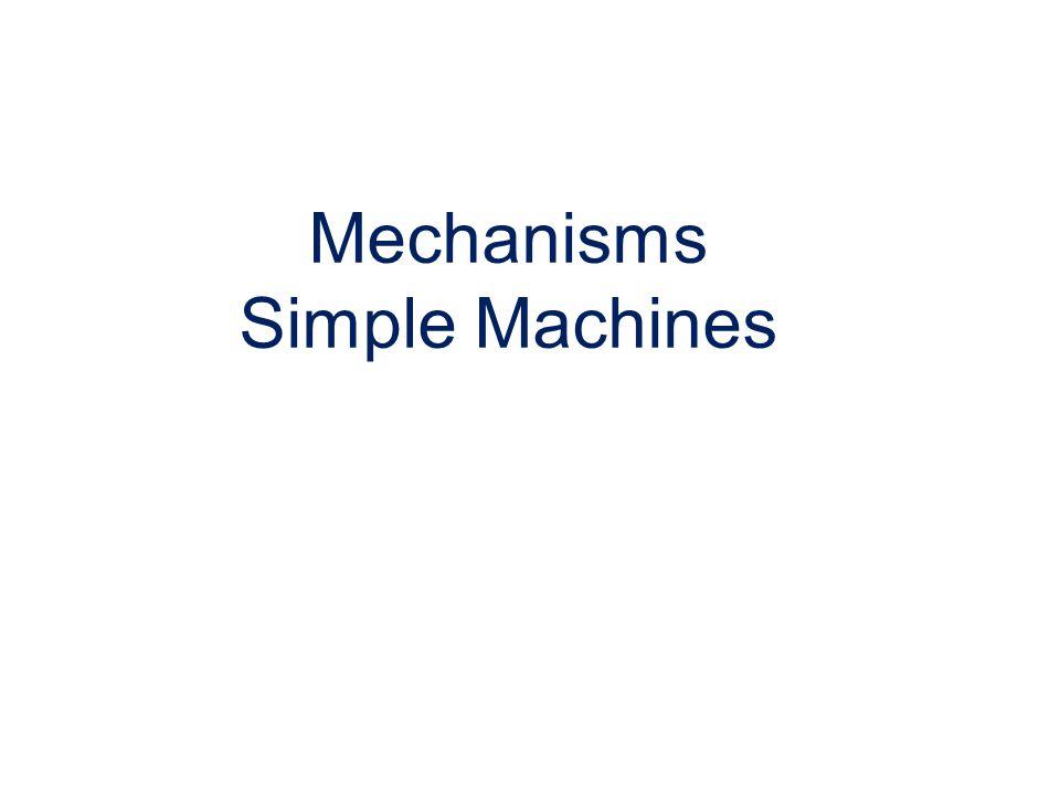 Mechanisms Simple Machines