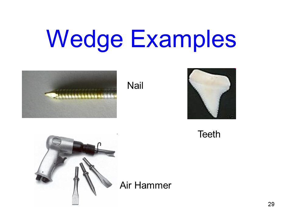 Wedge Examples Nail Teeth Air Hammer 29