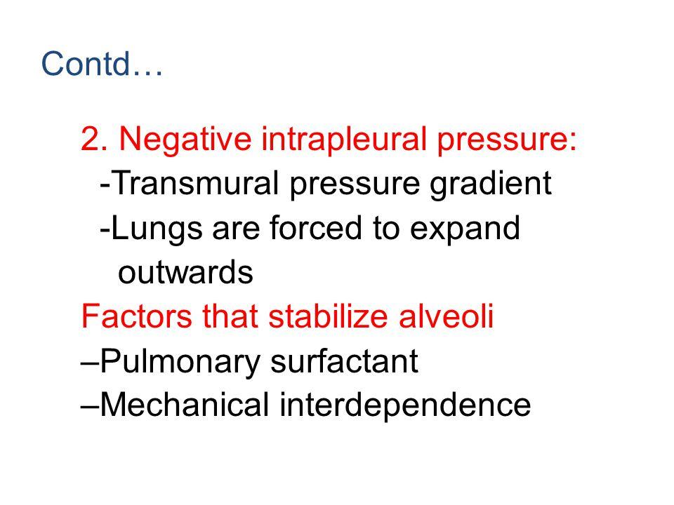 Question:1 As alveolar size decreases transmural pressure: A.