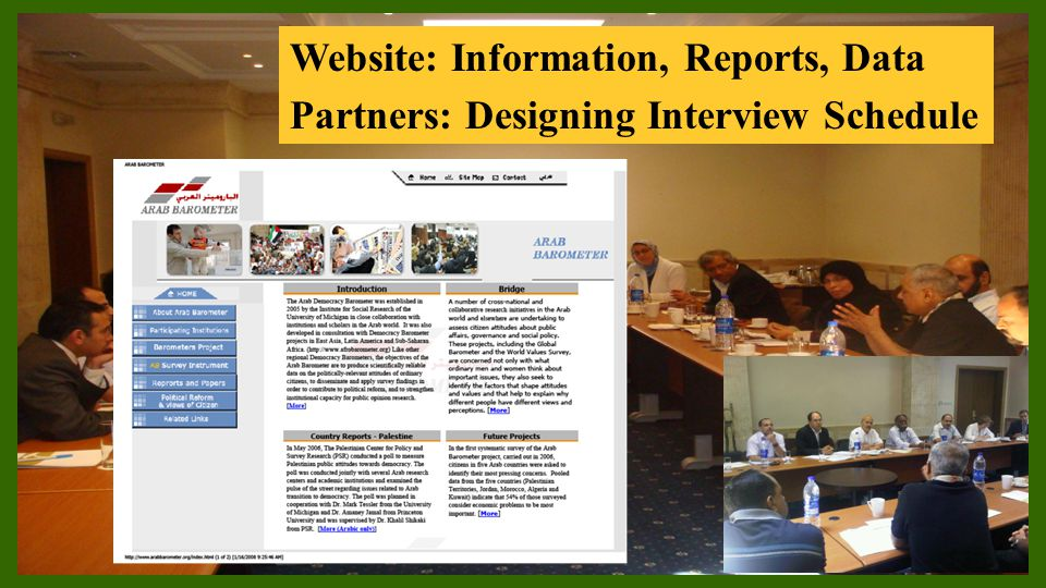 Website: Information, Reports, Data Partners: Designing Interview Schedule