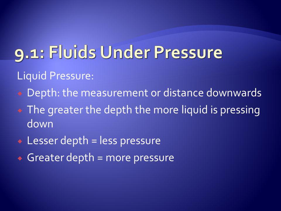 Summary: Fluids Under Pressure ..