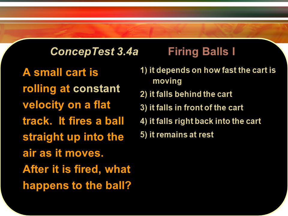 ConcepTest 6.16a Crash Cars I 1) I 2) II 3) I and II 4) II and III 5) all three If all three collisions below are totally inelastic, which one(s) will bring the car on the left to a complete halt?