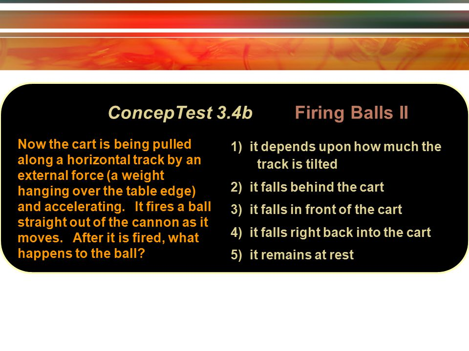 ConcepTest 6.10a Elastic Collisions I v 2 v 1 at rest 1) situation 1 2) situation 2 3) both the same Consider two elastic collisions: 1) a golf ball with speed v hits a stationary bowling ball head-on.