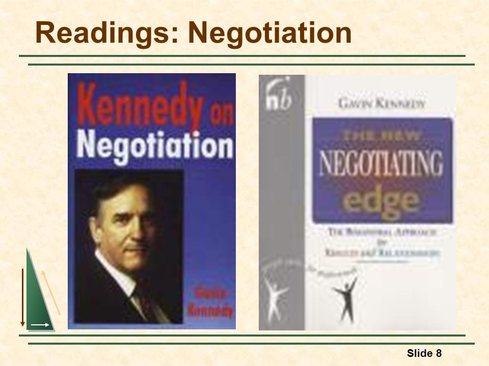 Slide 8 Readings: Negotiation