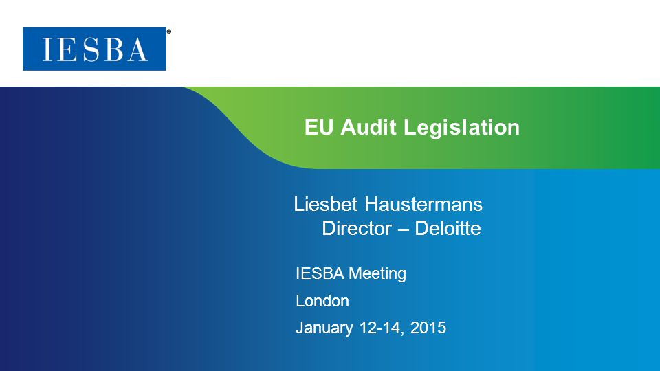 Page 2   Proprietary and Copyrighted Information Agenda 1.EU audit legislation – Overview 2.Date of application 3.Snapshot key provisions 4.PIE definition 5.Mandatory audit firm rotation 6.Non-audit services: scope, timing and restrictions 7.Non-EU controlled undertaking of EU PIE 8.Territorial scope of prohibited NAS 9.Other key points in legislation 10.Member State options