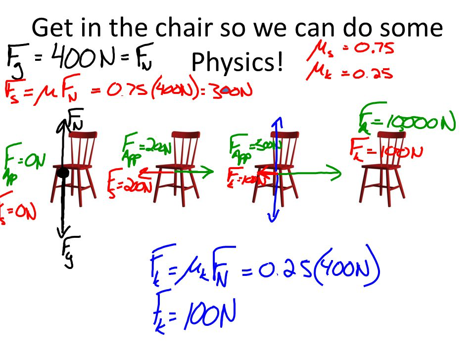 Get in the chair so we can do some Physics!