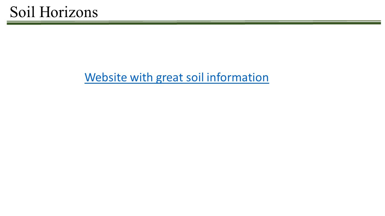 Soil Horizons Website with great soil information