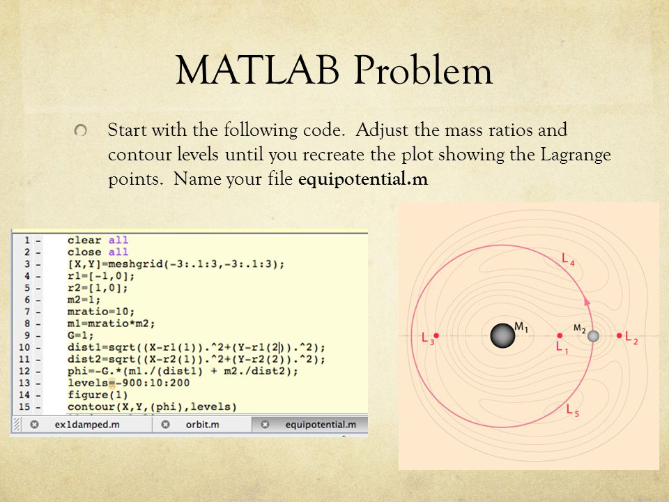 MATLAB Problem Start with the following code.