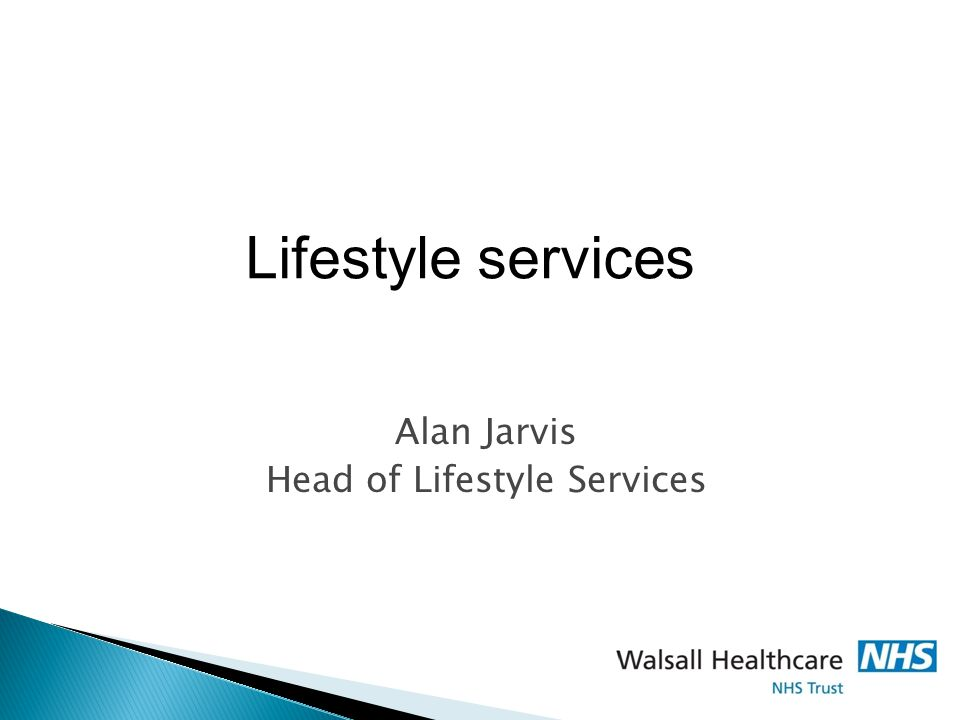 Alan Jarvis Head of Lifestyle Services Lifestyle services