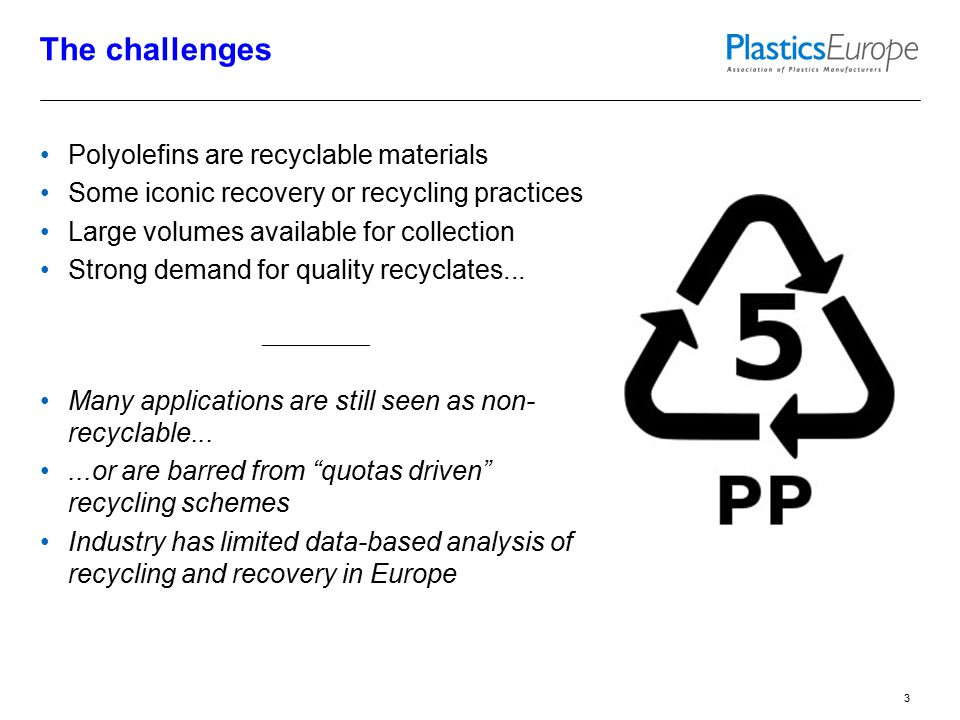 The questions What are the recycling and recovery rates of rigid PO applications at end of life.