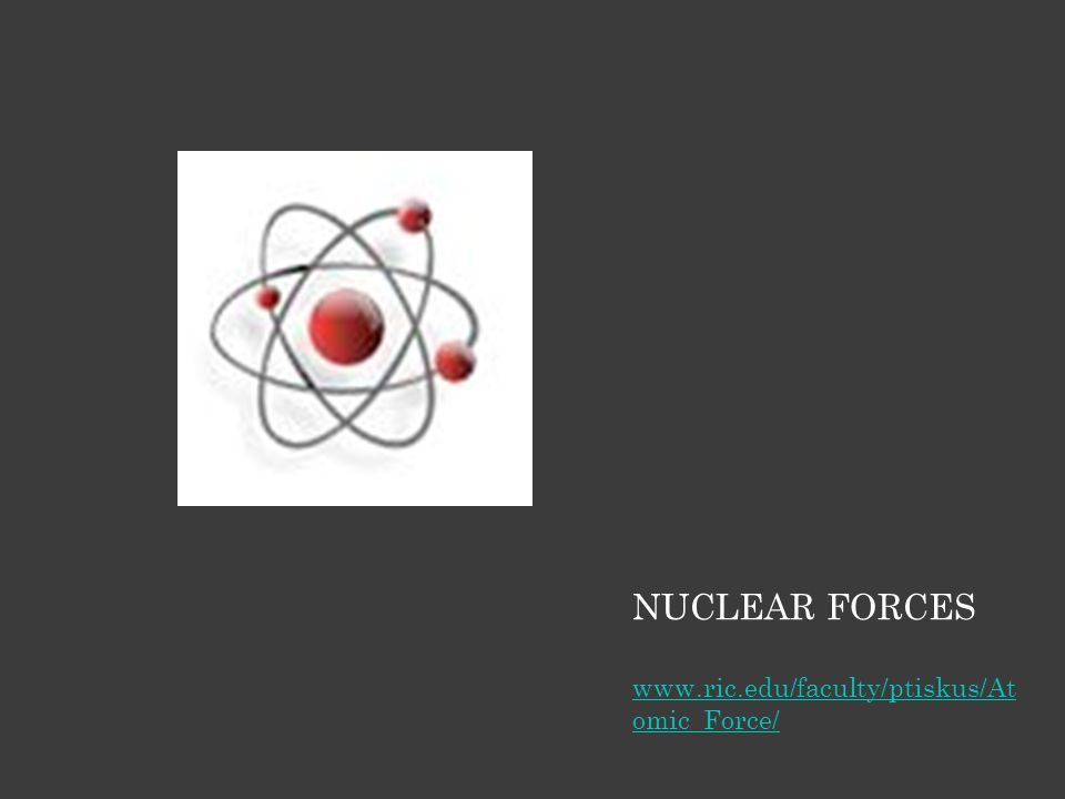 NUCLEAR FORCES www.ric.edu/faculty/ptiskus/At omic_Force/