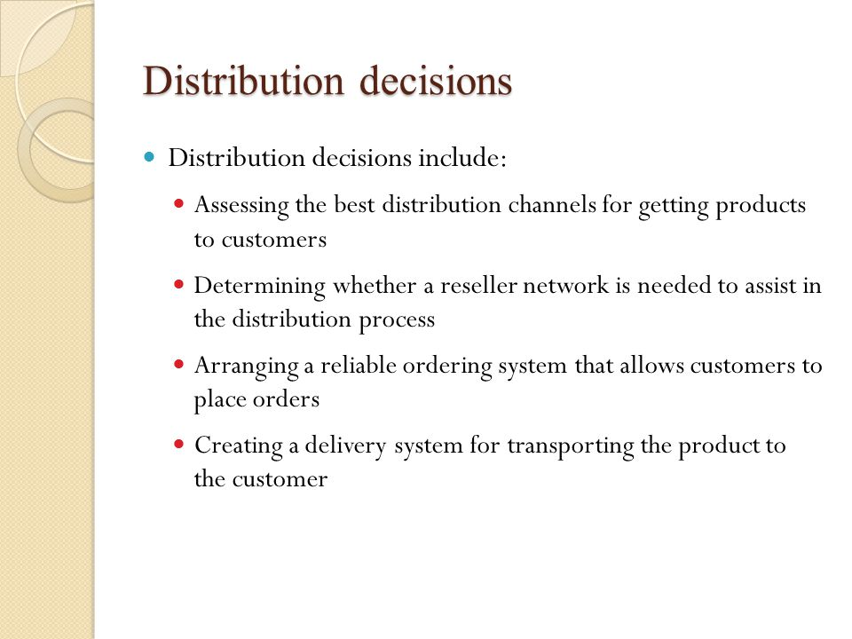 What is a distribution channel.