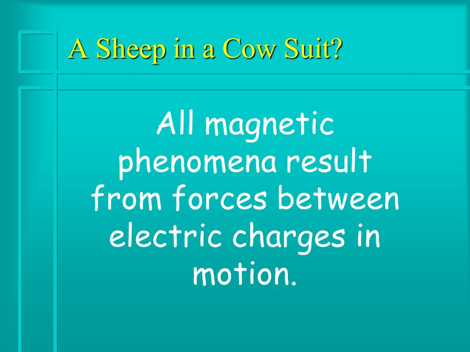 The Connection is Made SUMMARY: Oersted showed that magnetic effects could be produced by moving electrical charges; Faraday and Henry showed that electric currents could be produced by moving magnets