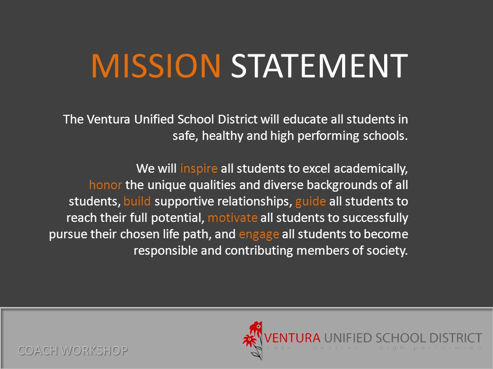 Every student can learn.We will make decisions in the best interest of students.