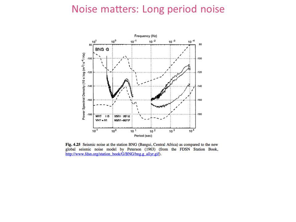 Noise matters: Long period noise