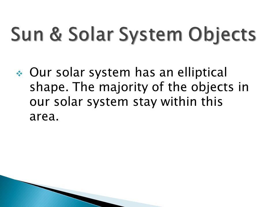  Our solar system has an elliptical shape.