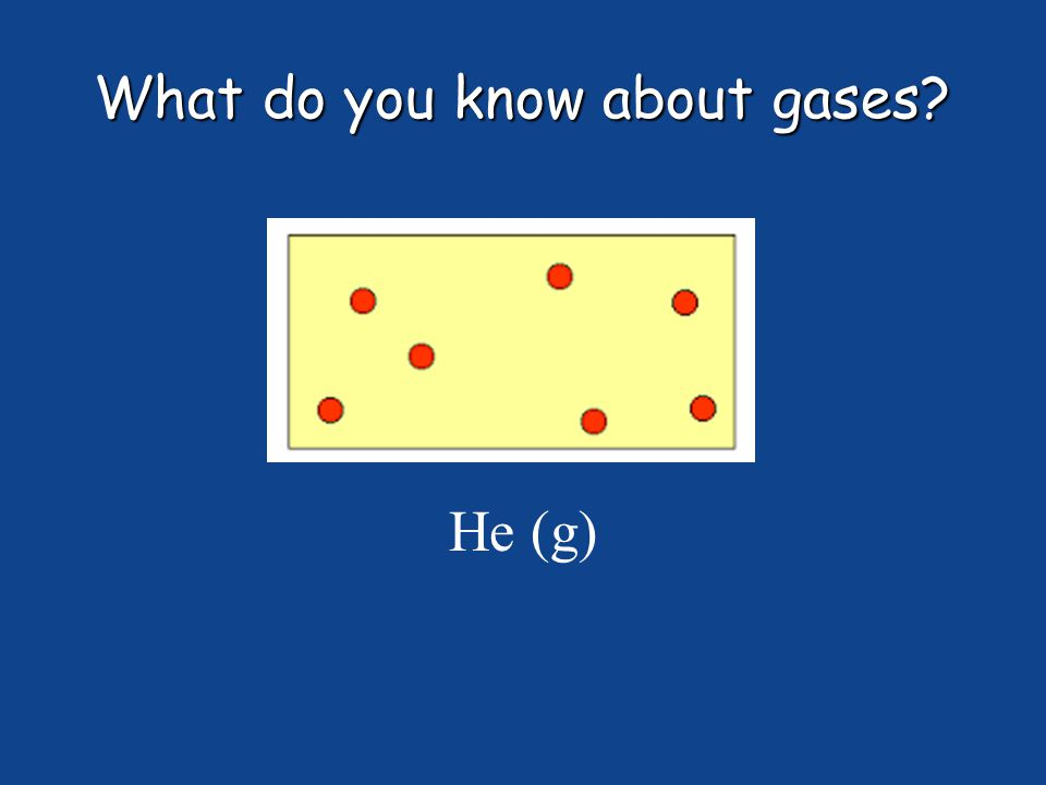 What do you know about gases He (g)