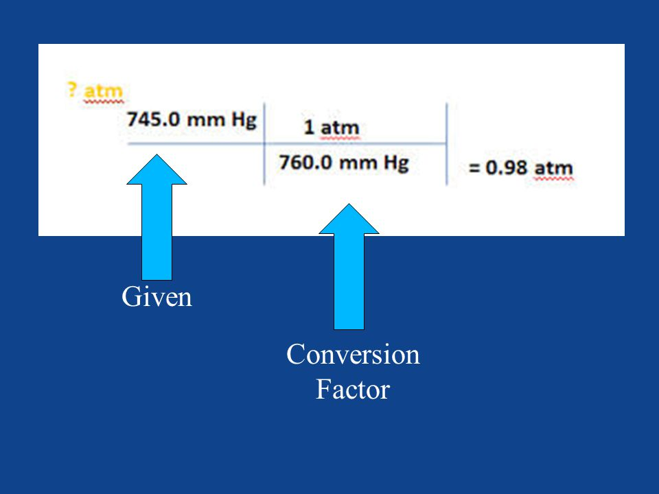 Given Conversion Factor