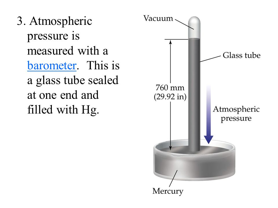 3. Atmospheric pressure is measured with a barometer. This is a glass tube sealed at one end and filled with Hg. Why toxic mercury and not water?