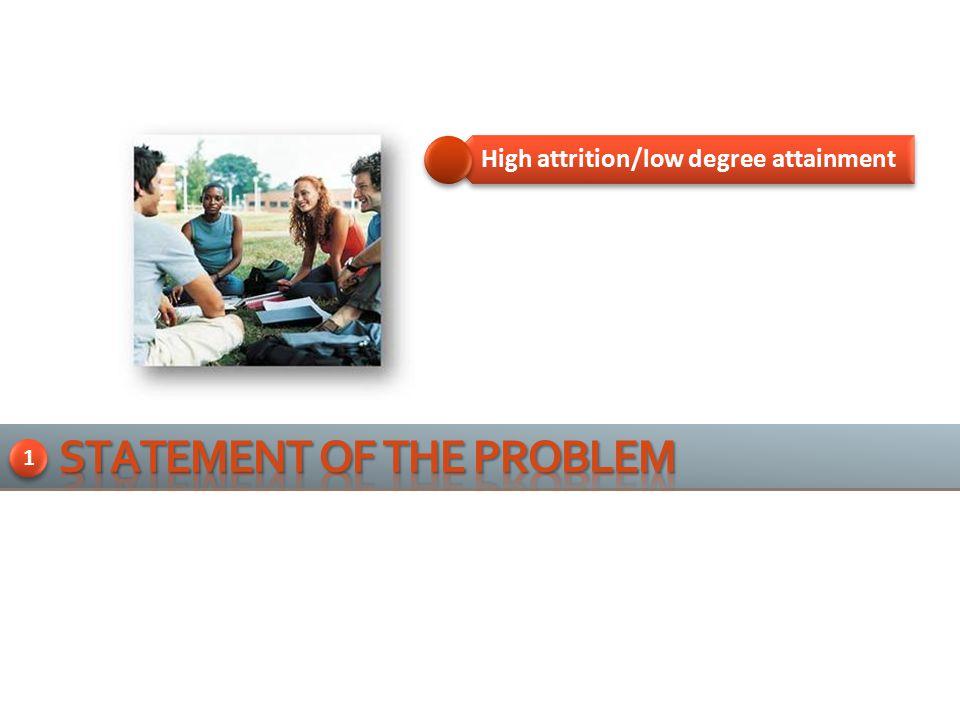 High attrition/low degree attainment 1