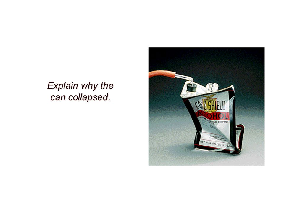 Explain why the can collapsed.