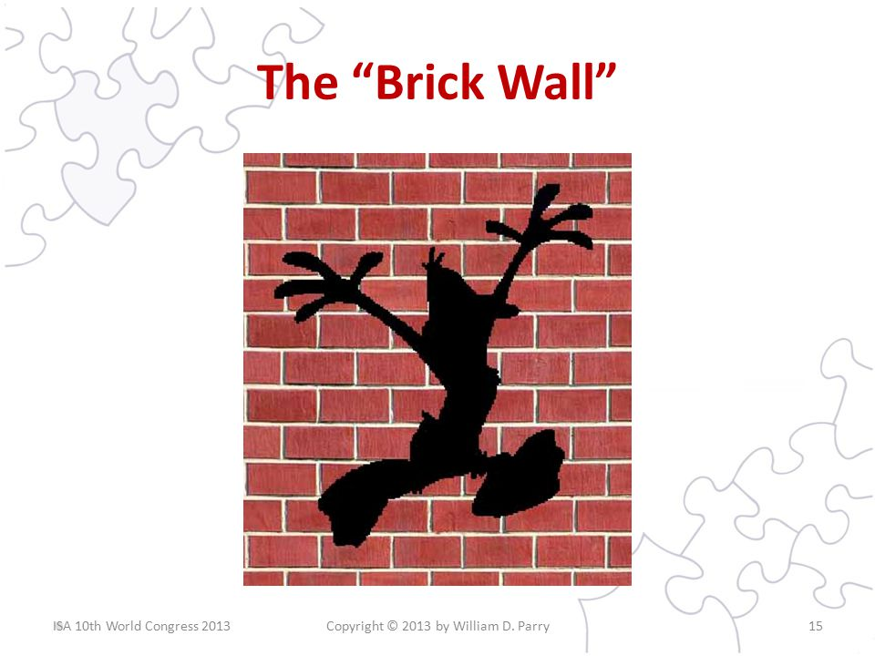 The Brick Wall Copyright © 2013 by William D. Parry15ISA 10th World Congress 2013