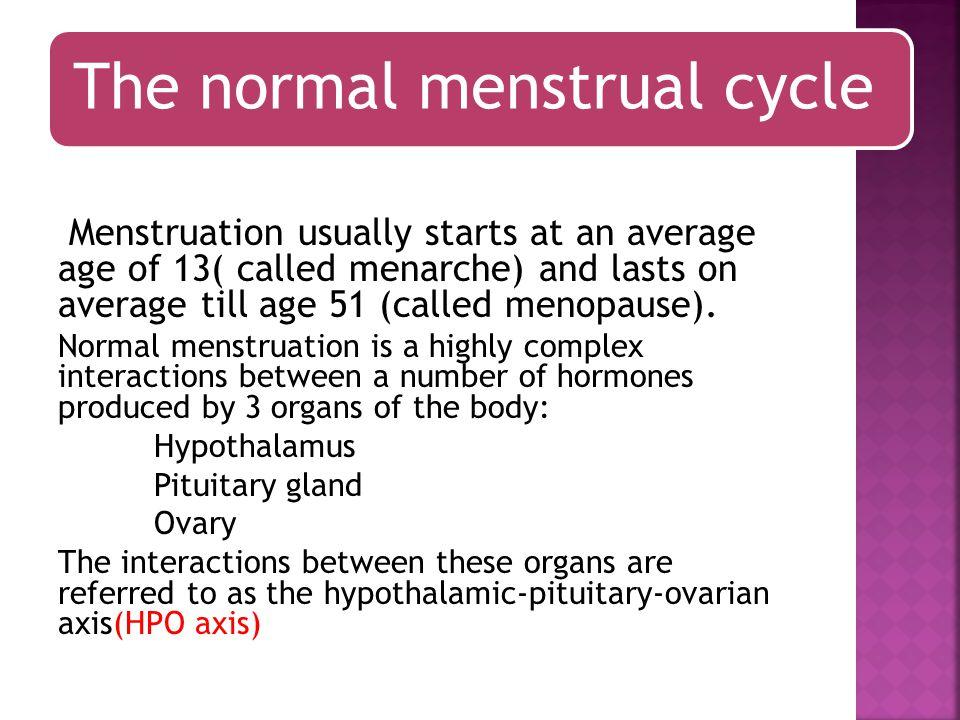 Measurement of ovarian reserve Menstruation remaining depends of number oocytes.