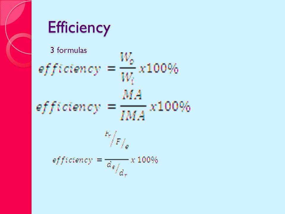 Efficiency 3 formulas