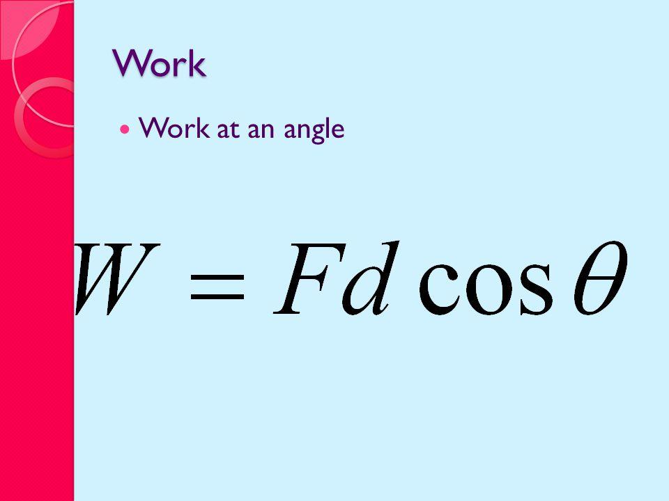 Work Work at an angle