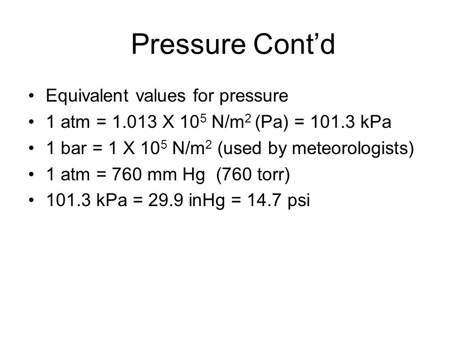 Pressure Cont'd Ex: A box with a weight of 2700 newtons is resting on the ground.