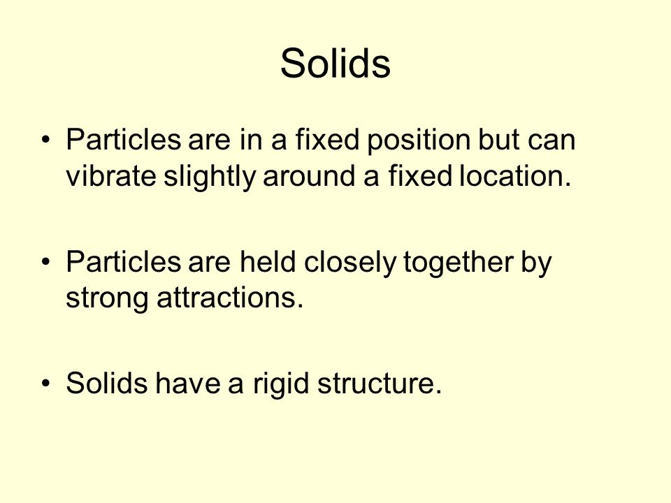 3 Common States of Matter Solid Liquid Gas