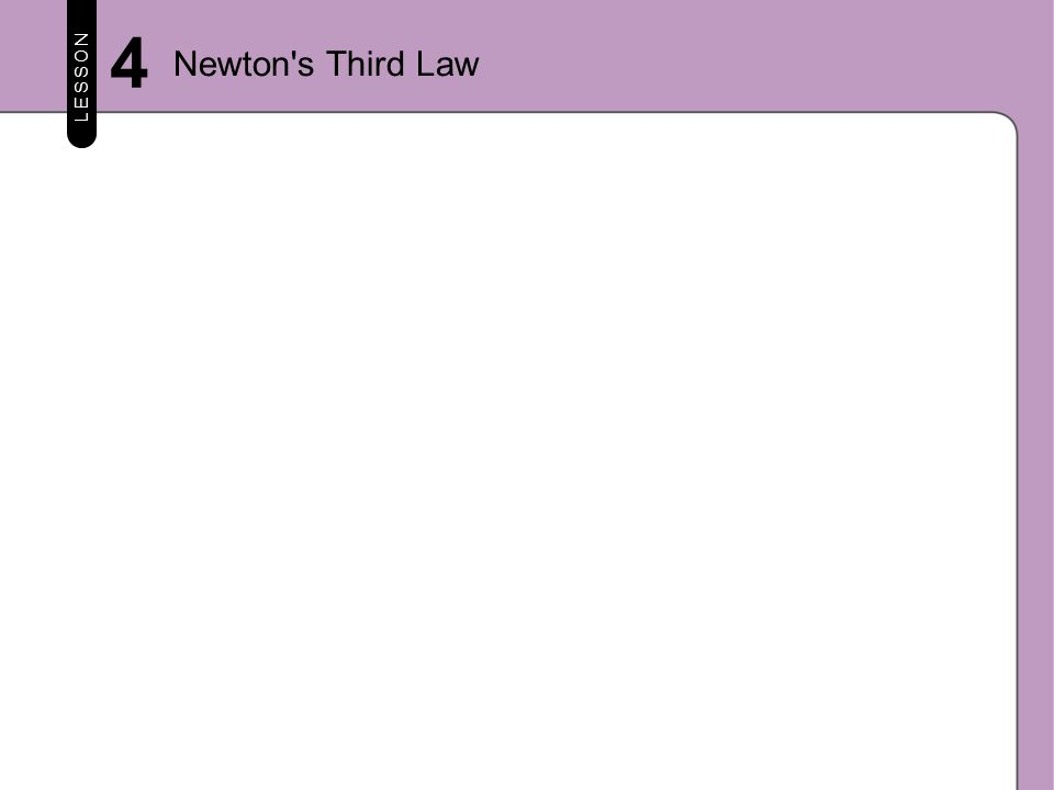 LESSON 4 Newton s Third Law
