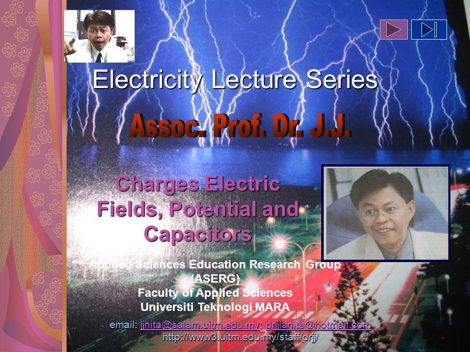 Copyright DR JJ,FSG, UiTM2 18.1 The Origin of Electricity Cutnell & Johnson 7E The electrical nature of matter is inherent in atomic structure.