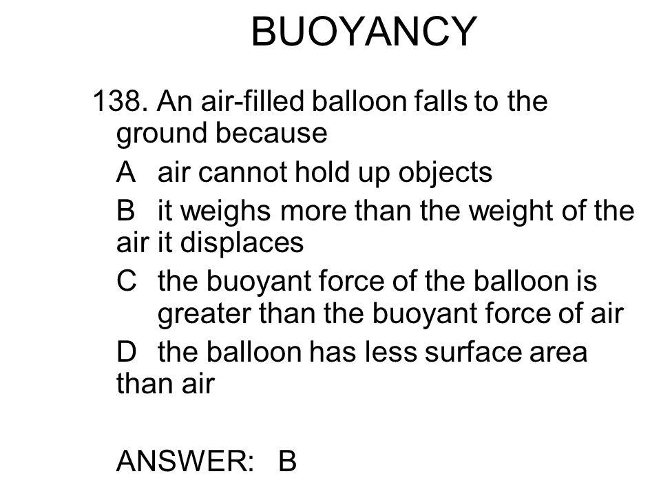 BUOYANCY 138.