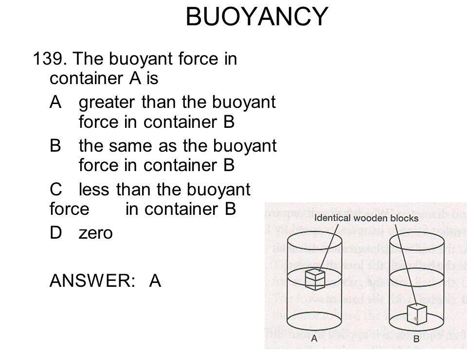 BUOYANCY 139.
