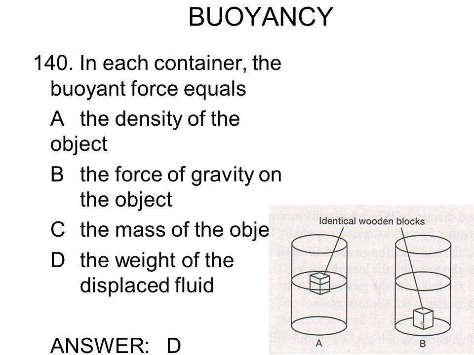 BUOYANCY 140.