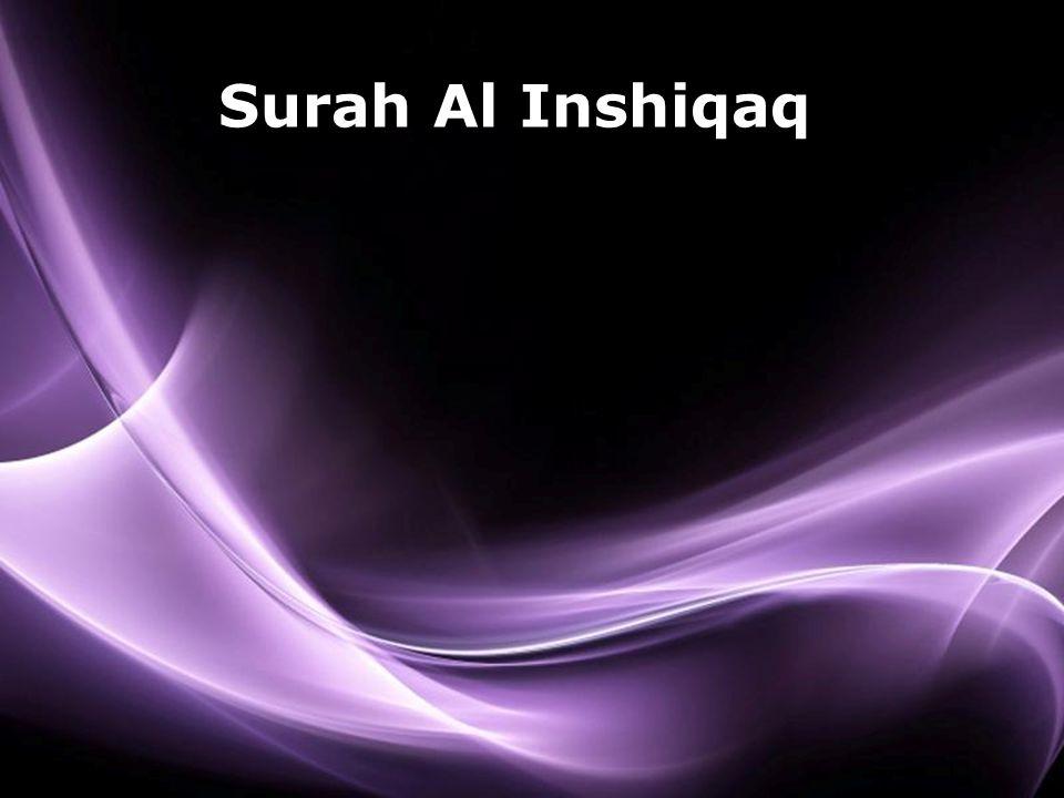 Page 1 Surah Al Inshiqaq