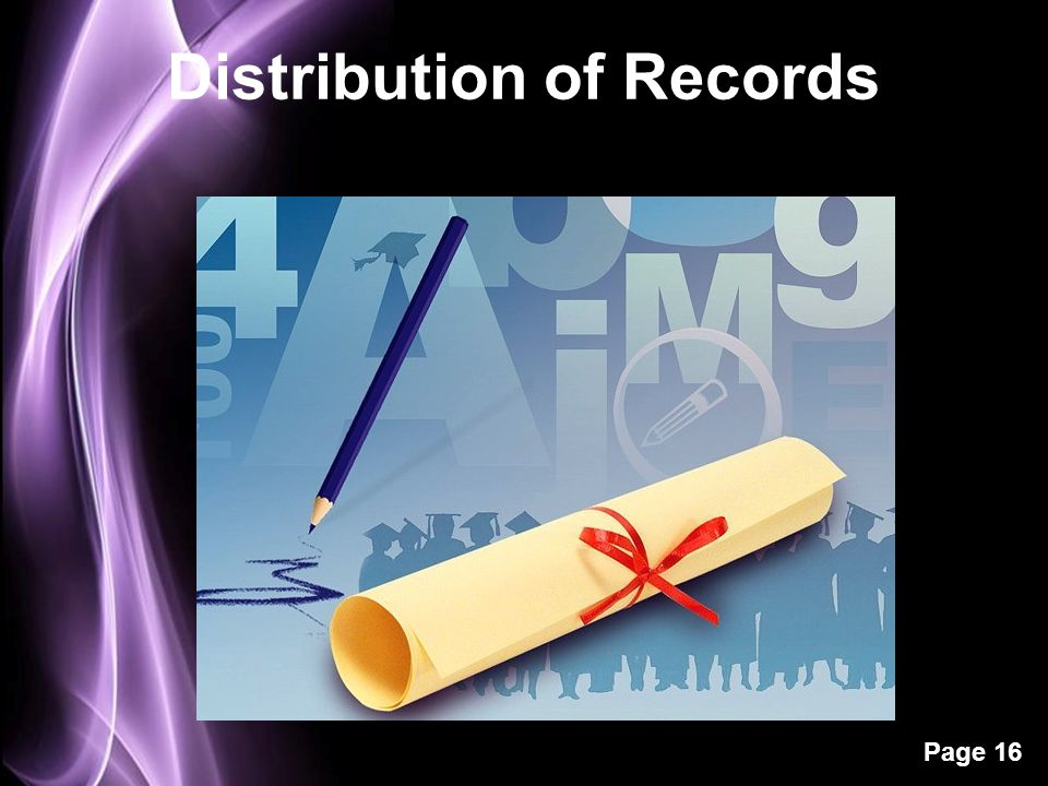 Page 16 Distribution of Records