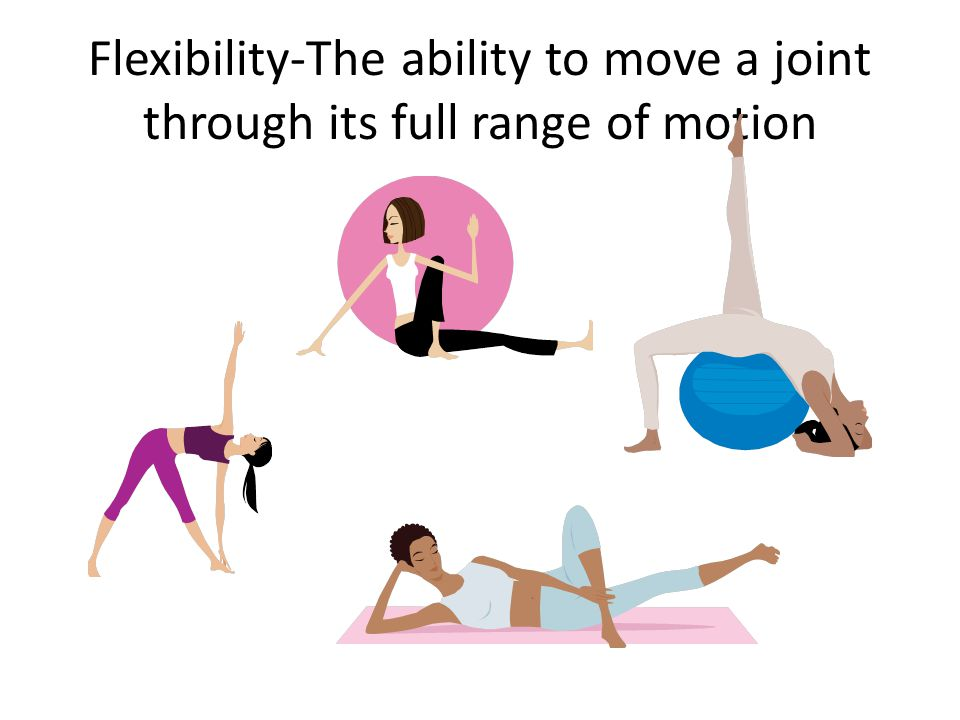 Flexibility-The ability to move a joint through its full range of motion