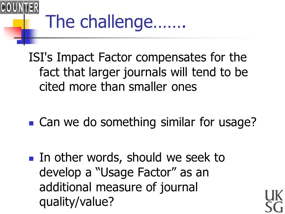 The challenge…….