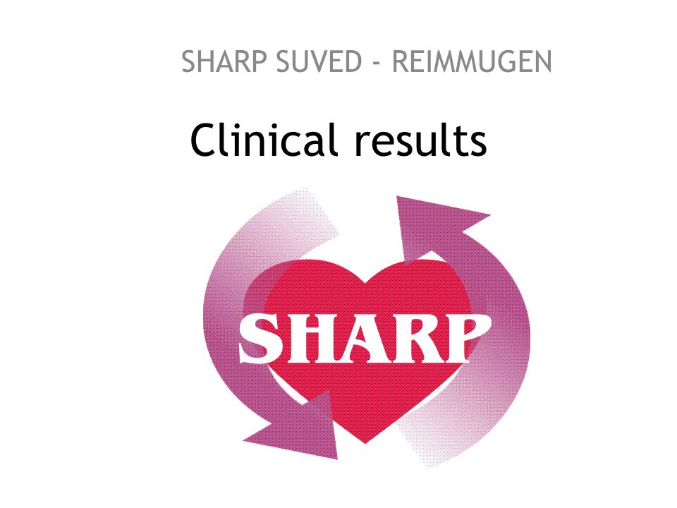 Clinical results SHARP SUVED - REIMMUGEN