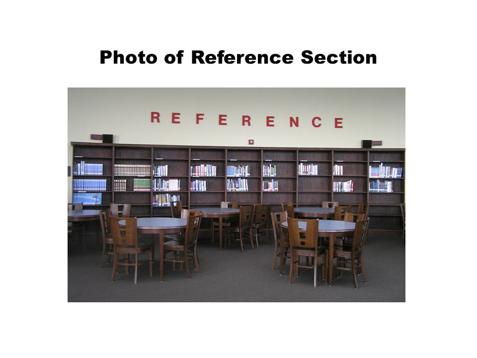 Photo of Reference Section