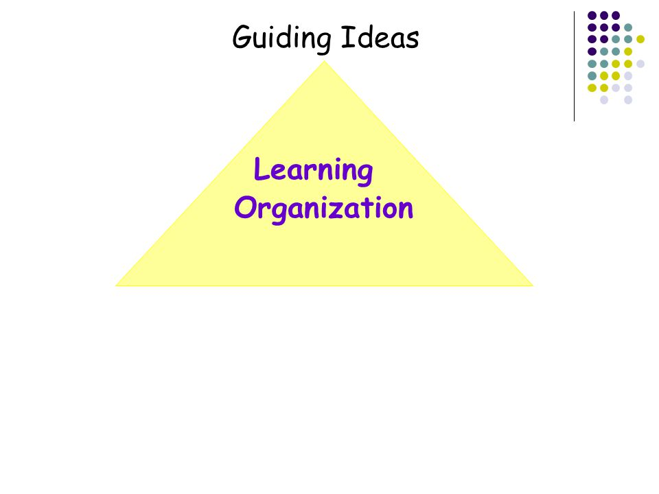 Organization Guiding Ideas Learning