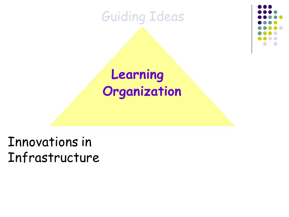 Organization Guiding Ideas Innovations in Infrastructure Learning