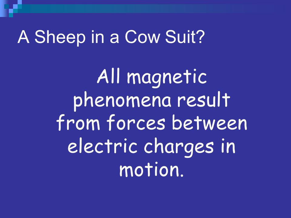The Connection is Made SUMMARY: Oersted showed that magnetic effects could be produced by moving electrical charges; Faraday and Henry showed that ele