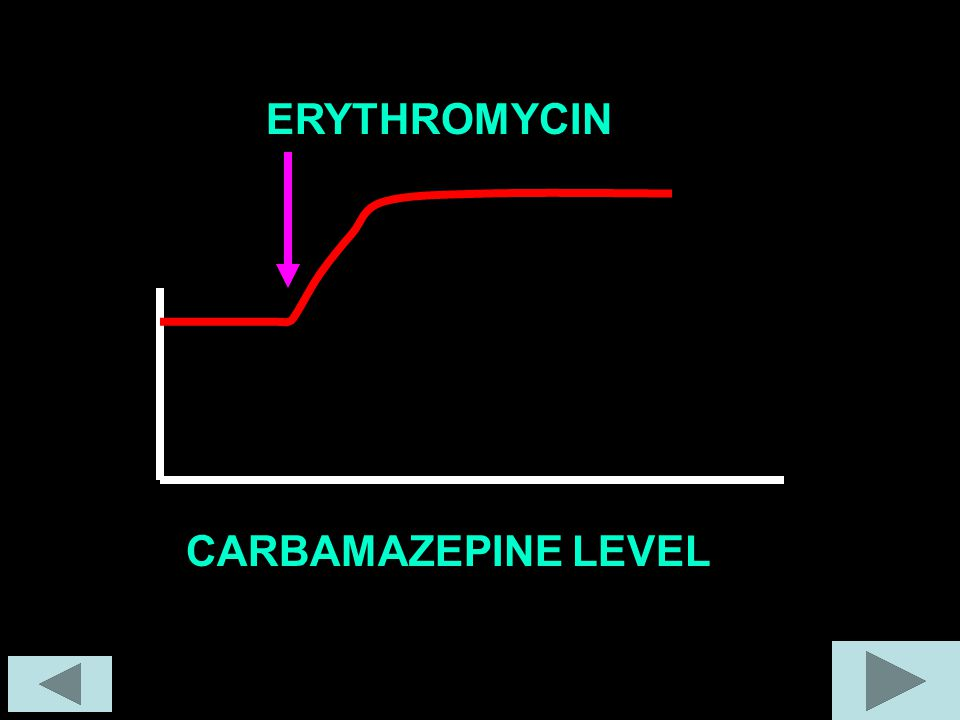 ERYTHROMYCIN CARBAMAZEPINE LEVEL