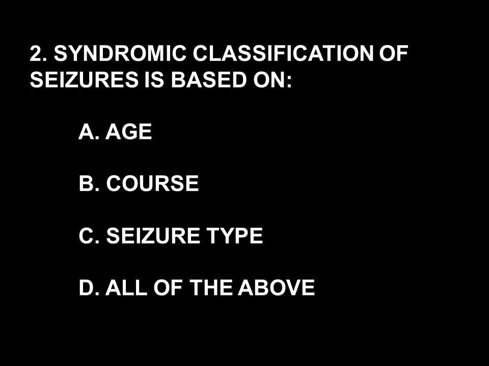 SEIZURE TYPE: EEG: TREATMENT: BENIGN NEONATAL FAMILIAL CONVULSIONS CLONIC, APNEA, NEVER TONIC NONE DIAGNOSIS: FAMILY HISTORY OF NEONATAL CONVULSION ONSET OF SEIZURES AT 2 TO 3 DAYS OF AGE ( <4 WEEKS) NORMAL NEUROLOGICAL EXAMINATION NO ETIOLOGY PHENOBARBITAL IN FIRST DEGREE RELATIVES WITH NORMAL DEVELOPMENT (14 % MAY HAVE SEIZURES AS ADULTS BUT NO MENTAL RETARDATION) AUTOSOMAL DOMINANT, LINKAGE: 20p AND 8p SEIZURES STOP USUALLY BY 6 WEEKS