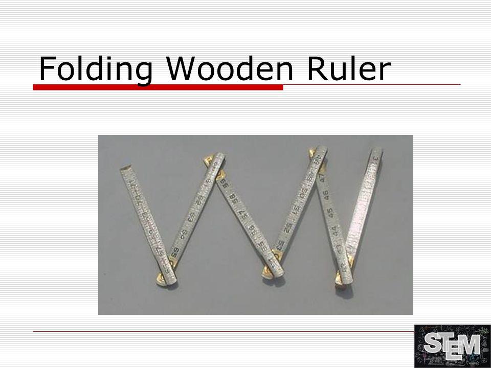 Folding Wooden Ruler